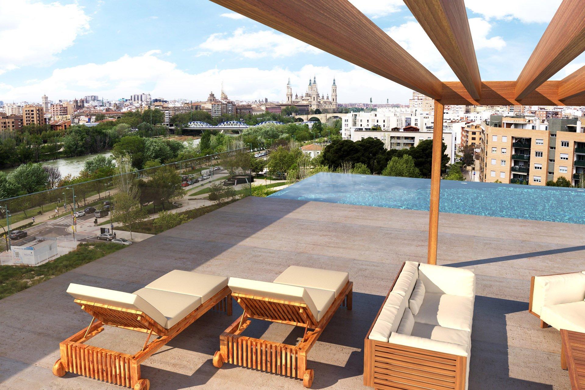 Las vistas a la ribera la piscina y el gimnasio a s lo un paso de tu hogar almozara 2000 - Gimnasio con piscina zaragoza ...