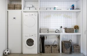 Lavandería y cuarto de plancha, la mejor forma de mantener el orden en casa